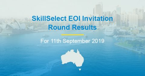 SkillSelect EOI Invitation Round Results for 11th September 2019