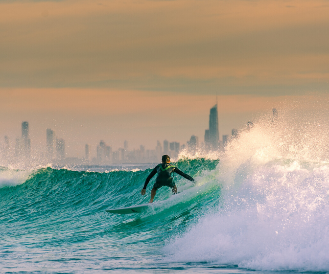 Gold Coast open for migration surf with  a view