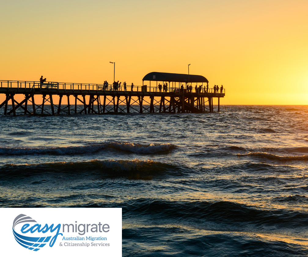 South Australia residents and migrants enjoy sunset - South Australia now open for migration